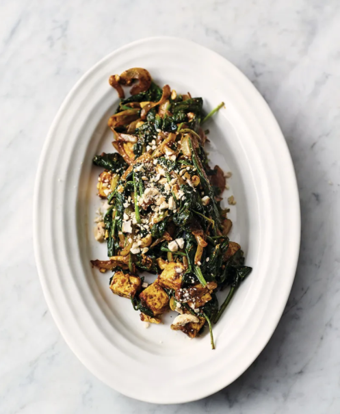 Speedy spinach curry