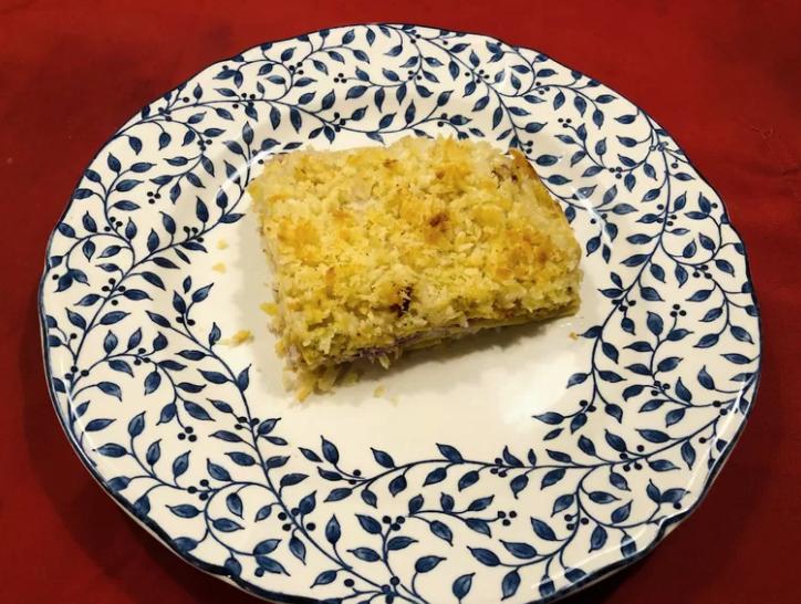 Lasagne met bloemkool en walnootyoghurt
